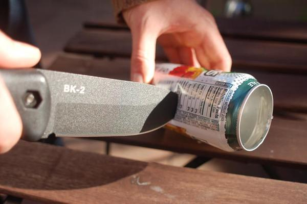 Cutting Slit in Soda Pop Can