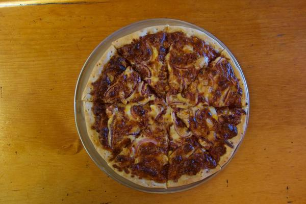 Abbott Butte - BBQ Sauce, Bacon, Onion and a dab of Delicous.