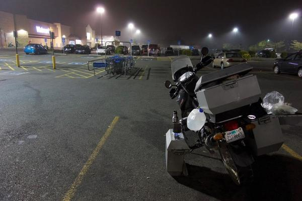My 'camping' spot for the night. Wal-mart Coos Bay