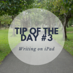 Writing on the iPad