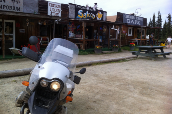 1150GS at Downtown Chicken Alaska