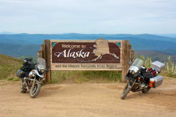 Alaska Border - Top of the World Highway