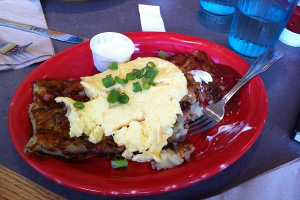 Breakfast at Snow City Cafe -- Heart Attack on a Plate