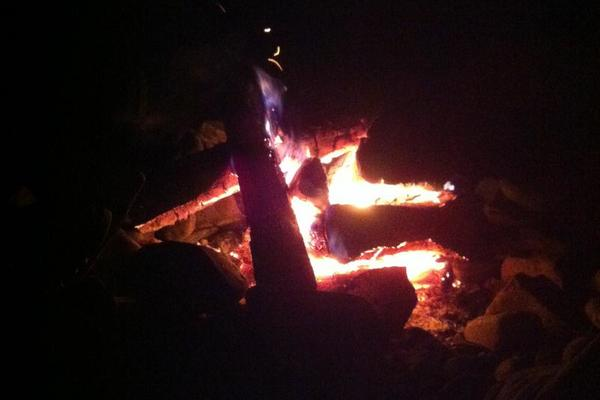 Camp Fire at the Nash Road Campground