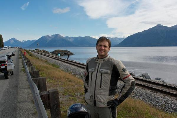 Standing by the turnagain arm.