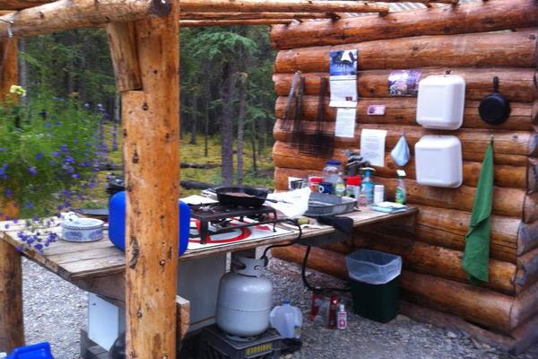 Thompson's Eagle's Claw Campground Cooking Setup