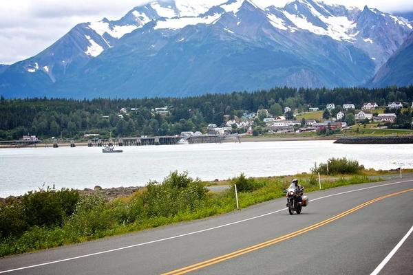 Motorcycling From Downtown Haines Alaska
