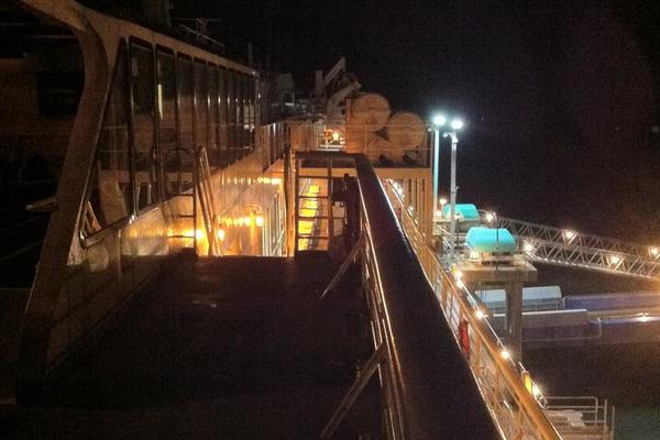 M/V Columbia Lit Up in Haines Alaska