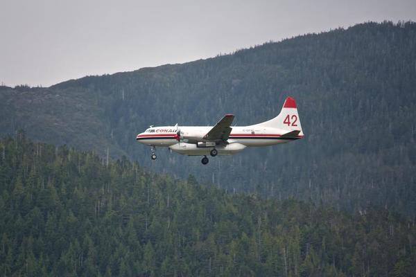 Conair Flight Landing at Ketchikan Airport