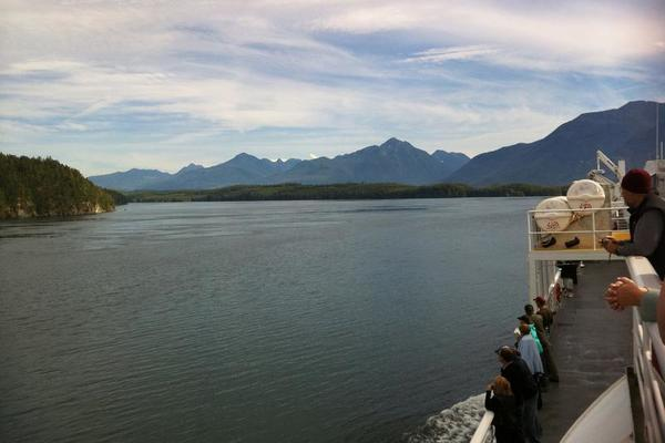 Green mountains -- Alaska Marine Highway
