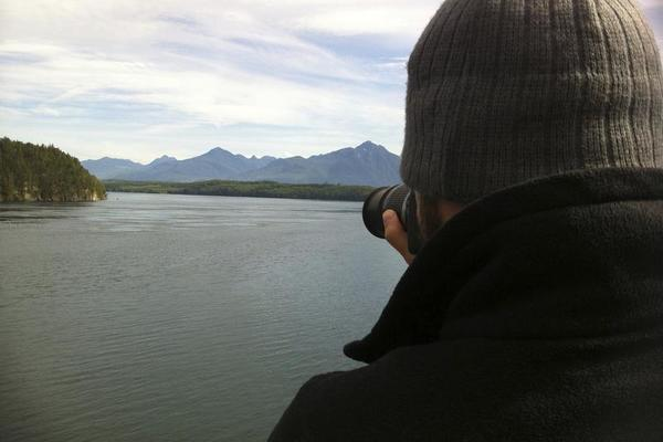 Gregg taking a picture. -- Alaska Marine Highway