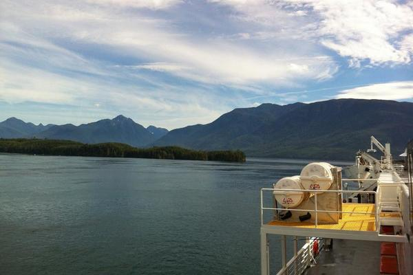 Mountain views -- Alaska Marine Highway