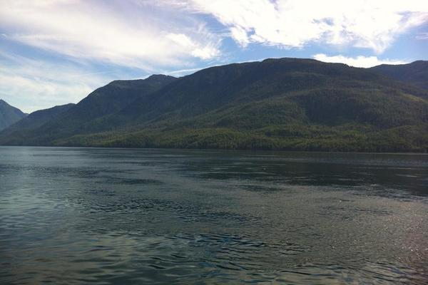 Mountain and water views -- Alaska Marine Highway
